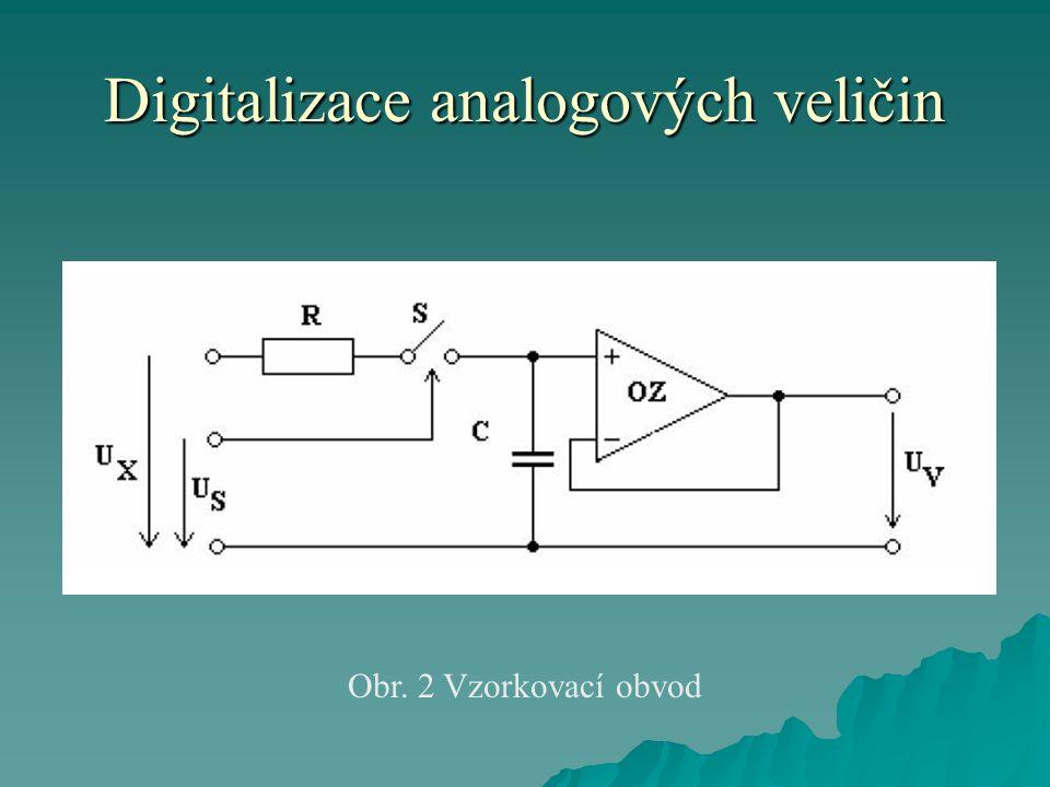 Digitalizace analogových veličin Obr. 2 Vzorkovací obvod