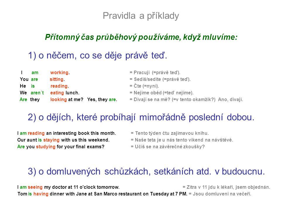 Věta kladná oznamovací Příklady I am speaking.You are learning English.