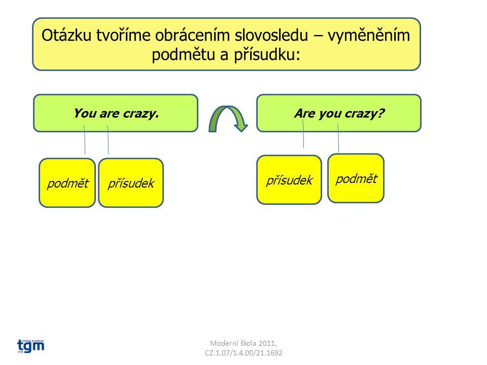 Moderní škola 2011, CZ.1.07/1.4.00/21.1692 You are crazy.