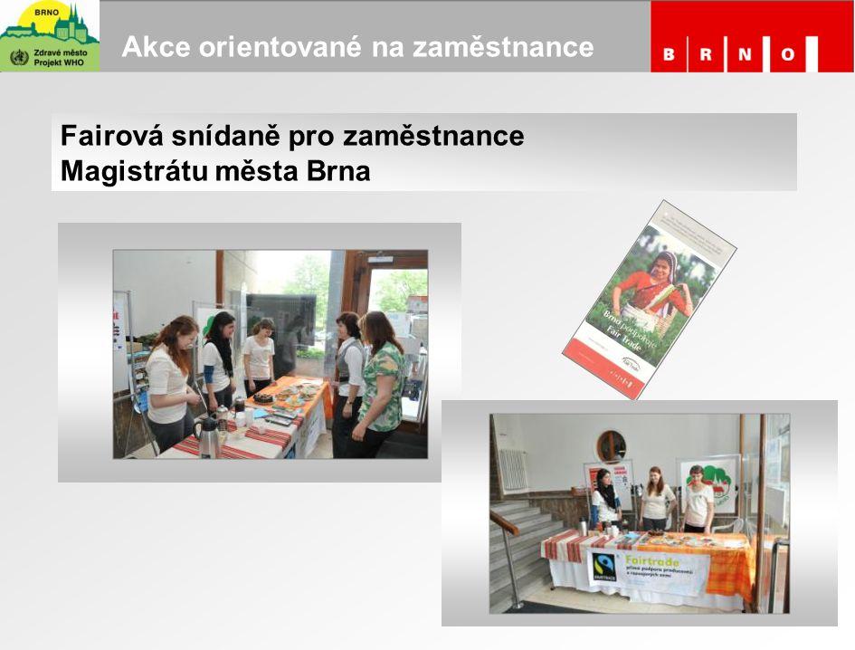 Akce orientované na zaměstnance Fairová snídaně pro zaměstnance Magistrátu města Brna