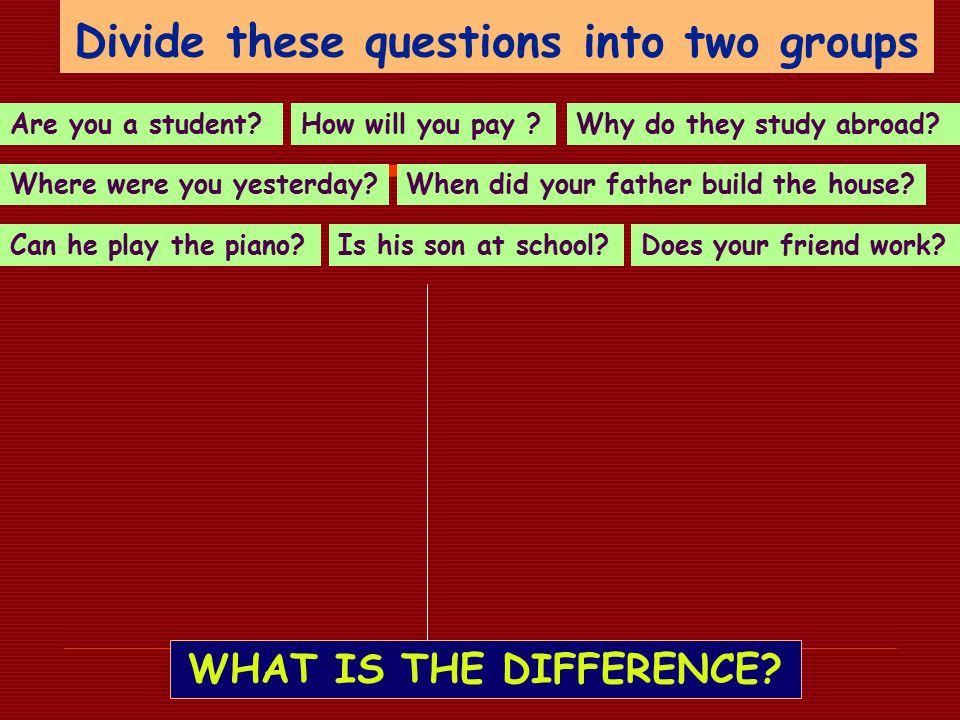 rozdělení otázek podle způsobu tvoření Jak můžeme rozdělit otázky na dvě základní skupiny – podle toho, jak je tvoříme .