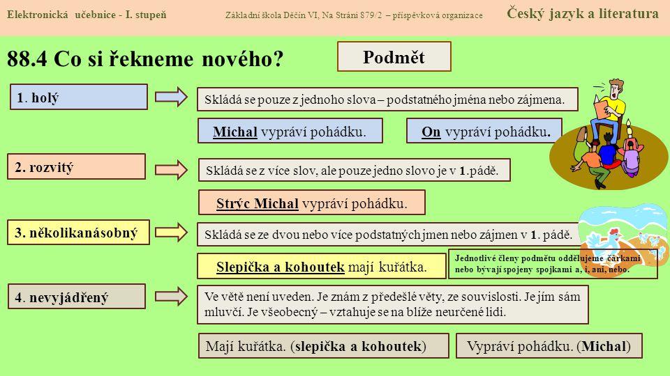 88.5 Procvičení a příklady Elektronická učebnice - I.