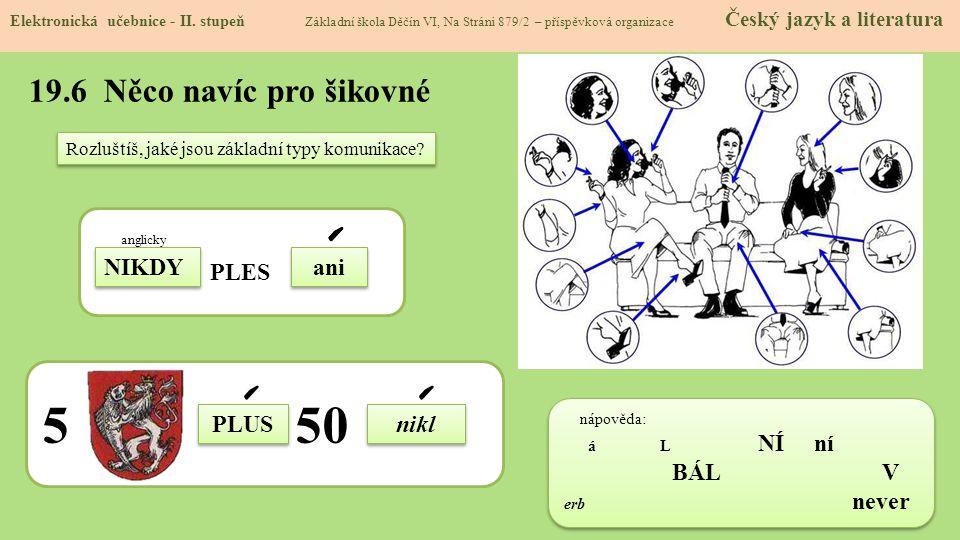 19.6 Něco navíc pro šikovné Elektronická učebnice - II.