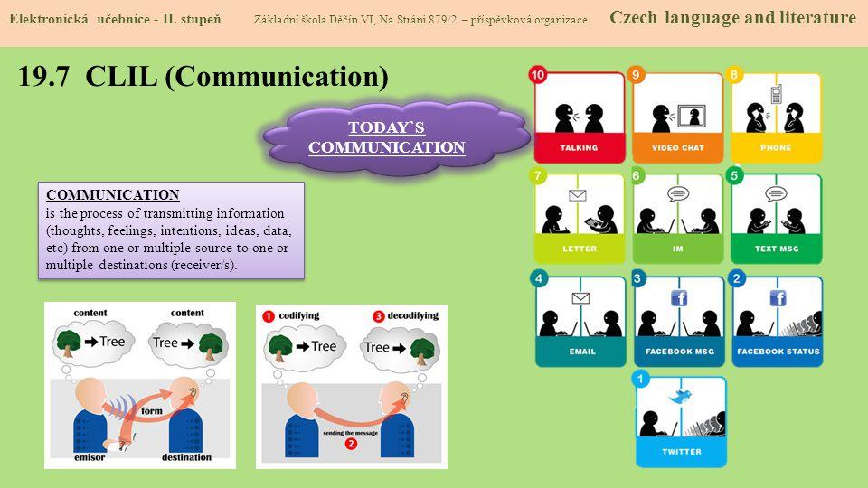 19.7 CLIL (Communication) Elektronická učebnice - II.