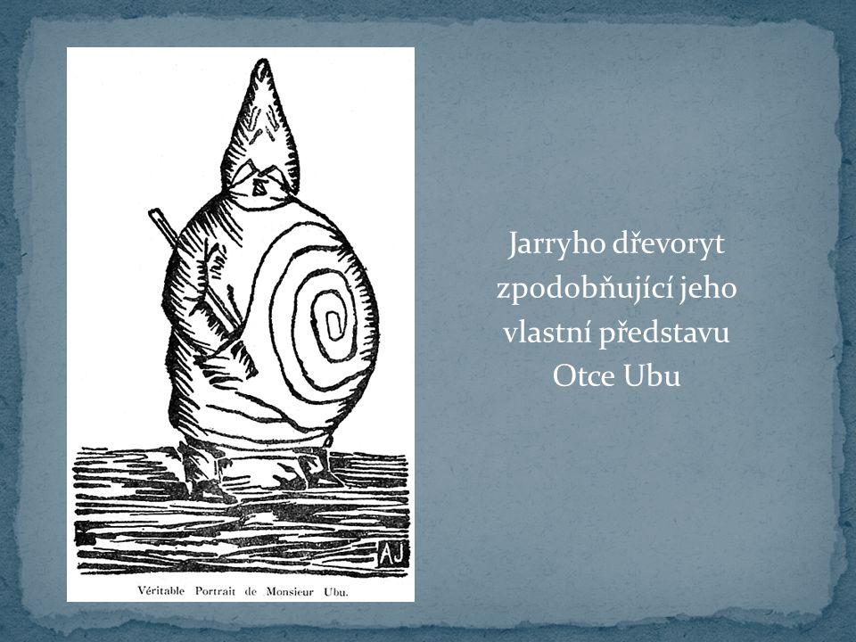 Jarryho dřevoryt zpodobňující jeho vlastní představu Otce Ubu