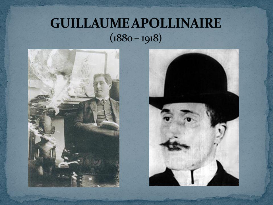  mluvčí kubismu (snaha o obrodu poezie)  1912 založil časopis: Soirées de Paris  tribuna fr.