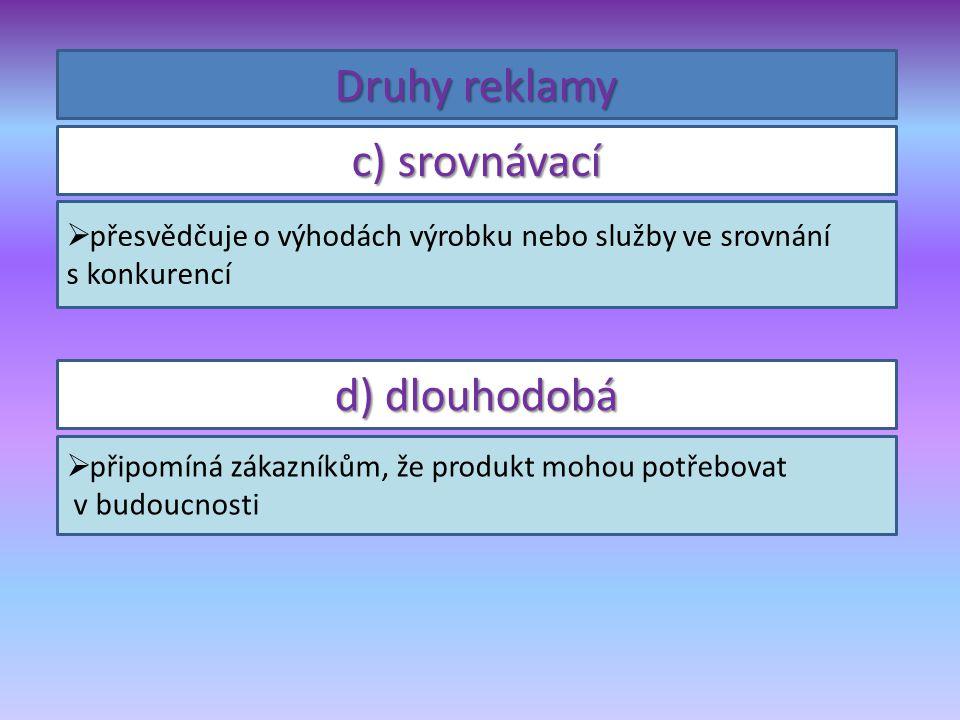  je snadno zapamatovatelný Vytvoř slogan, který vychází z pravidel:  obsahuje jméno produktu Špak má šmak.