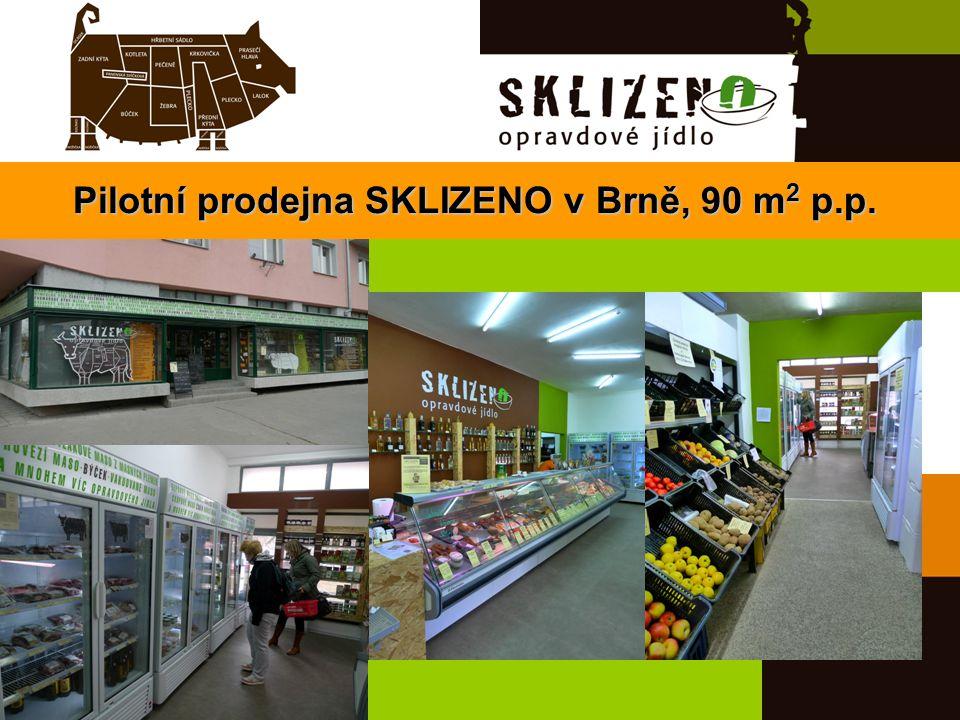 Pilotní prodejna SKLIZENO v Brně, 90 m 2 p.p.