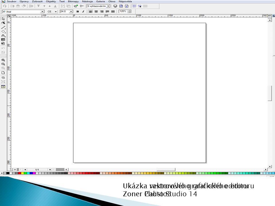 Ukázka rastrového grafického editoru Zoner Photo Studio 14 Ukázka vektorového grafického editoru Zoner Calisto5