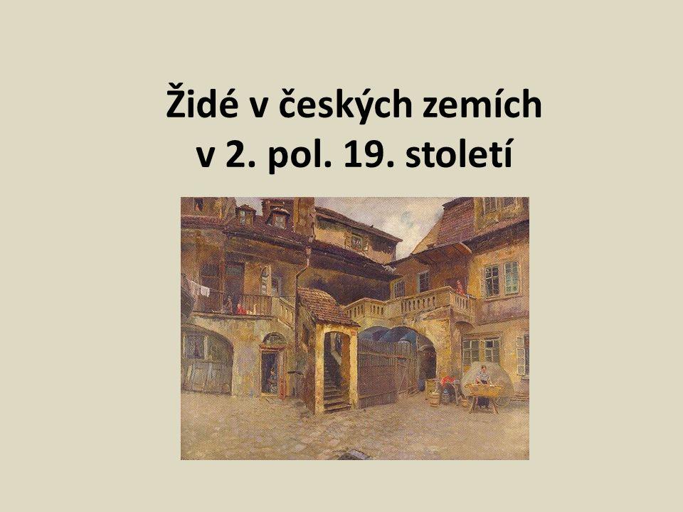 Židé v českých zemích v 2. pol. 19. století