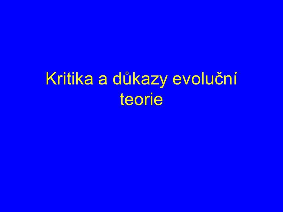 Kritika a důkazy evoluční teorie