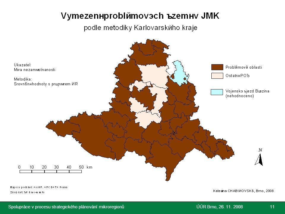 Společnost pro regionální ekonomické poradenství Spolupráce v procesu strategického plánování mikroregionůÚÚR Brno, 26. 11. 200811
