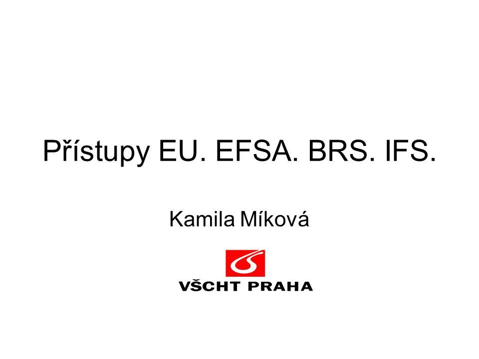 Přístupy EU. EFSA. BRS. IFS. Kamila Míková