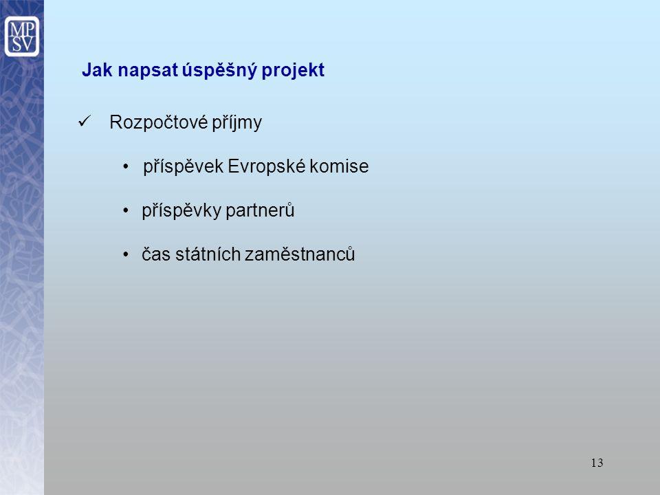 12 Jak napsat úspěšný projekt MIKRO – projektová žádost – rozpočet objem finančních prostředků Evropské unie vyčleněných na výzvu procento národního s