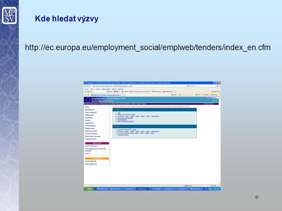 8 Jak napsat úspěšný projekt MIKRO Zakázka na služby nebo vypracování návrhu projektu? výzvy Evropské komise k předložení nabídky výzvy Evropské komis