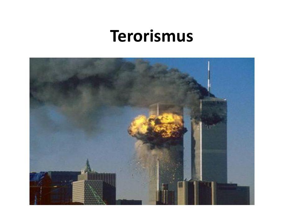 Vnitřní terorismus Vnitřní terorismus lze rozdělit na terorismus státní (teror) a na terorismus revoluční, to podle toho, zda jeho cílem je posílit moc státu, nebo ji rozložit.