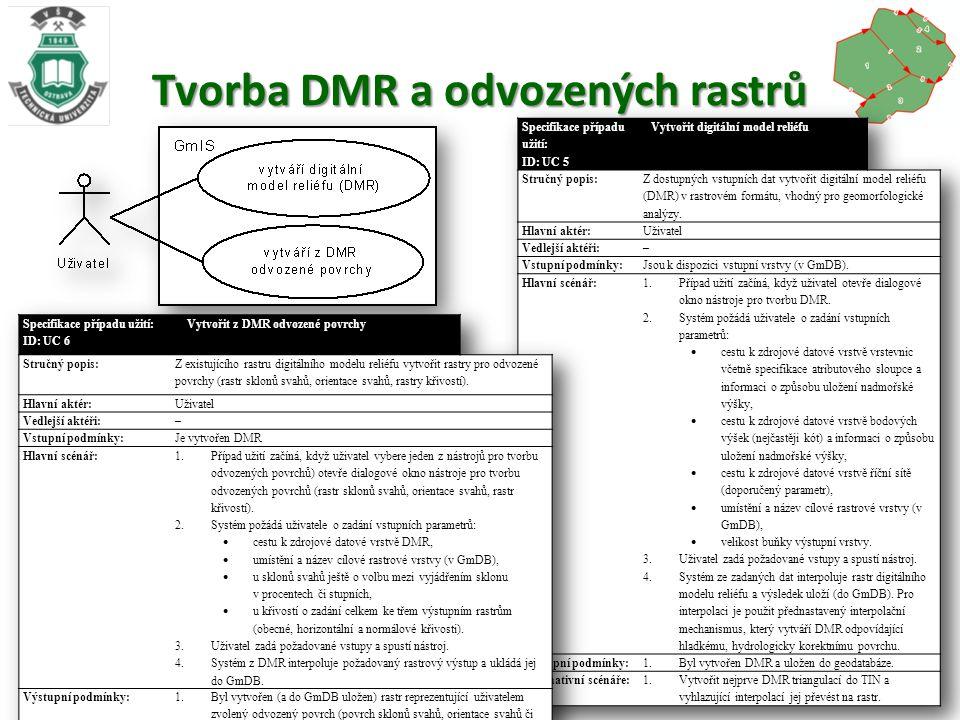 Tvorba DMR a odvozených rastrů