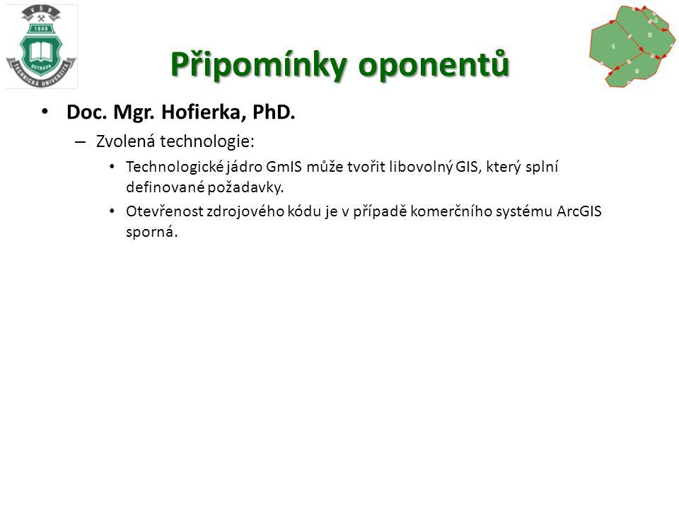 Připomínky oponentů Doc. Mgr. Hofierka, PhD.