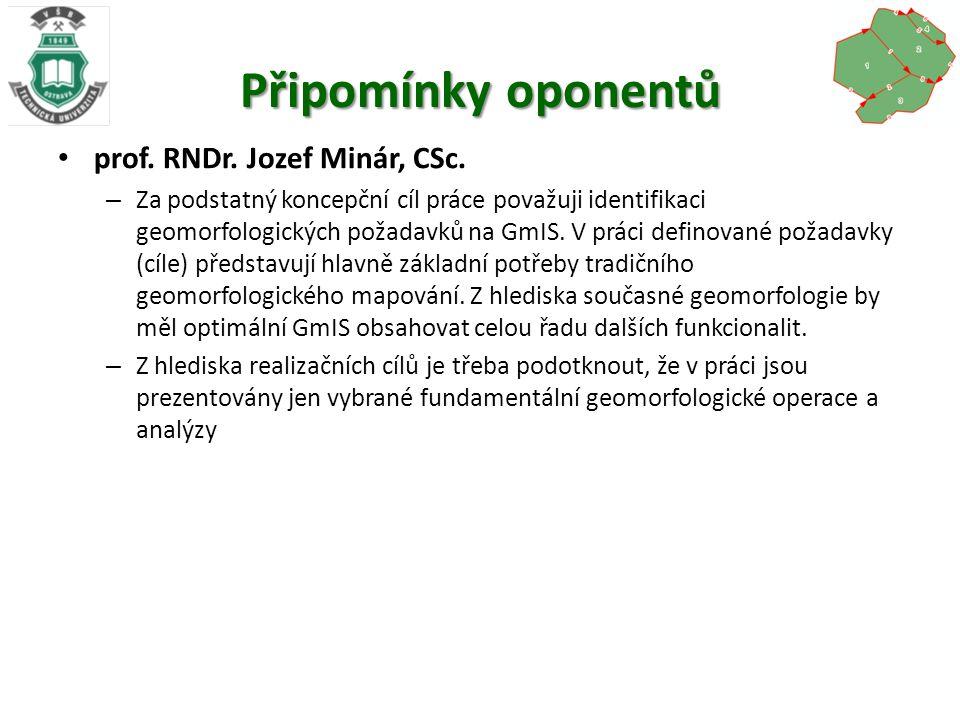 Připomínky oponentů prof. RNDr. Jozef Minár, CSc.