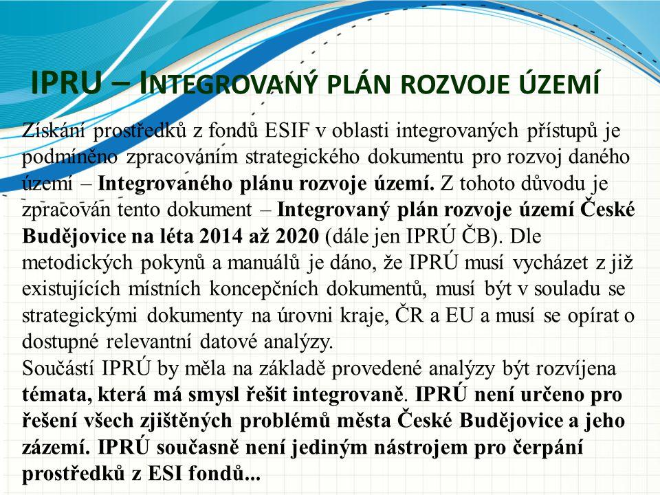 Získání prostředků z fondů ESIF v oblasti integrovaných přístupů je podmíněno zpracováním strategického dokumentu pro rozvoj daného území – Integrovan