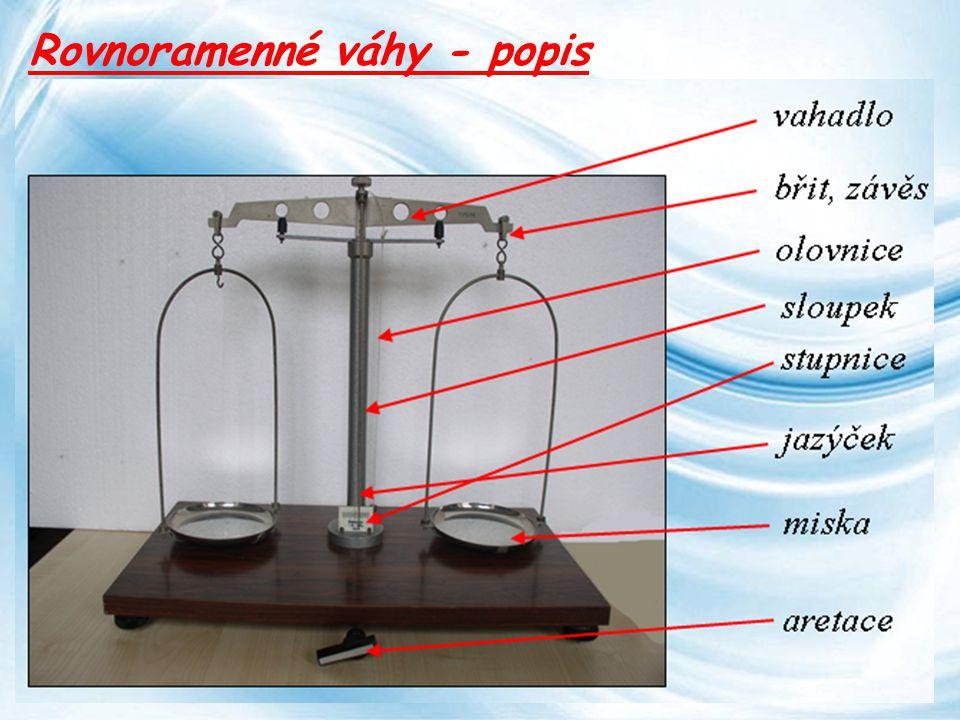 Page 9 Rovnoramenné váhy - popis