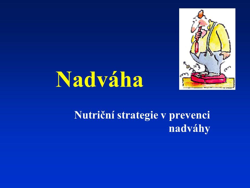 Nadváha Nutriční strategie v prevenci nadváhy