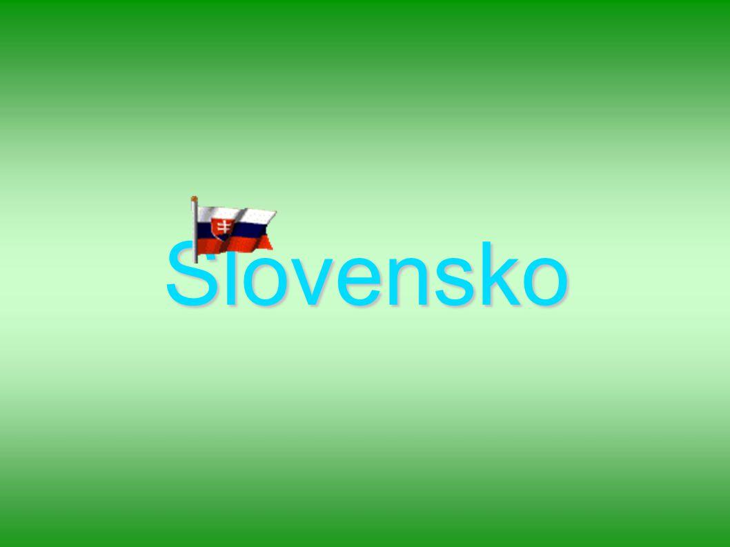 Základní údaje Leží ve střední Evropě Sousedí s ČR, Rakouskem,Maďarskem, Ukrajinou a Polskem Hlavní město : Bratislava Nejvyšší bod : Gerlachovský štít (2655 m.n) Nejdelší řeka : Váh (400 km) Nejvýše položená obec : Štrbské pleso (1 355 m n.