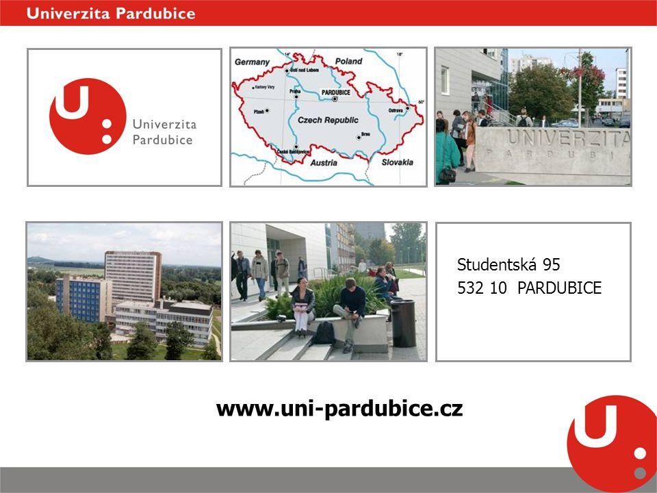 Studentská 95 532 10 PARDUBICE www.uni-pardubice.cz
