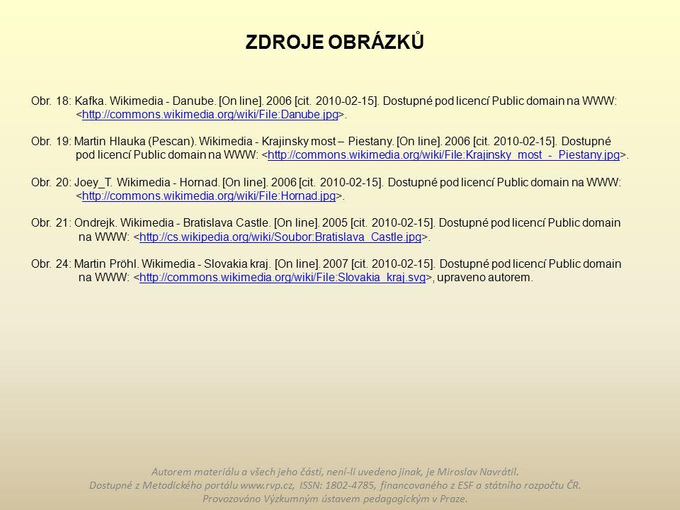 Obr.18: Kafka. Wikimedia - Danube. [On line]. 2006 [cit.