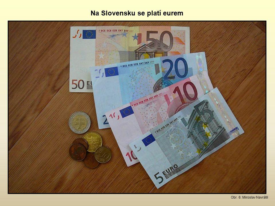 Na Slovensku se platí eurem Obr. 6: Miroslav Navrátil