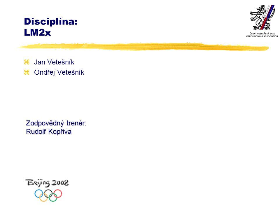 Disciplína: LM2x zJan Vetešník zOndřej Vetešník Zodpovědný trenér: Rudolf Kopřiva
