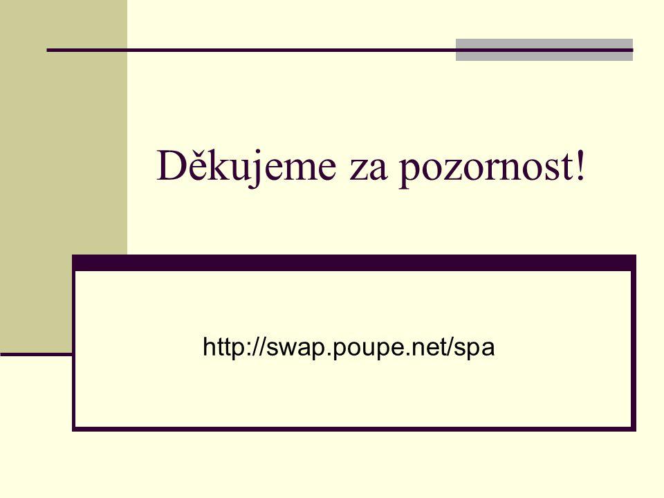 Děkujeme za pozornost! http://swap.poupe.net/spa