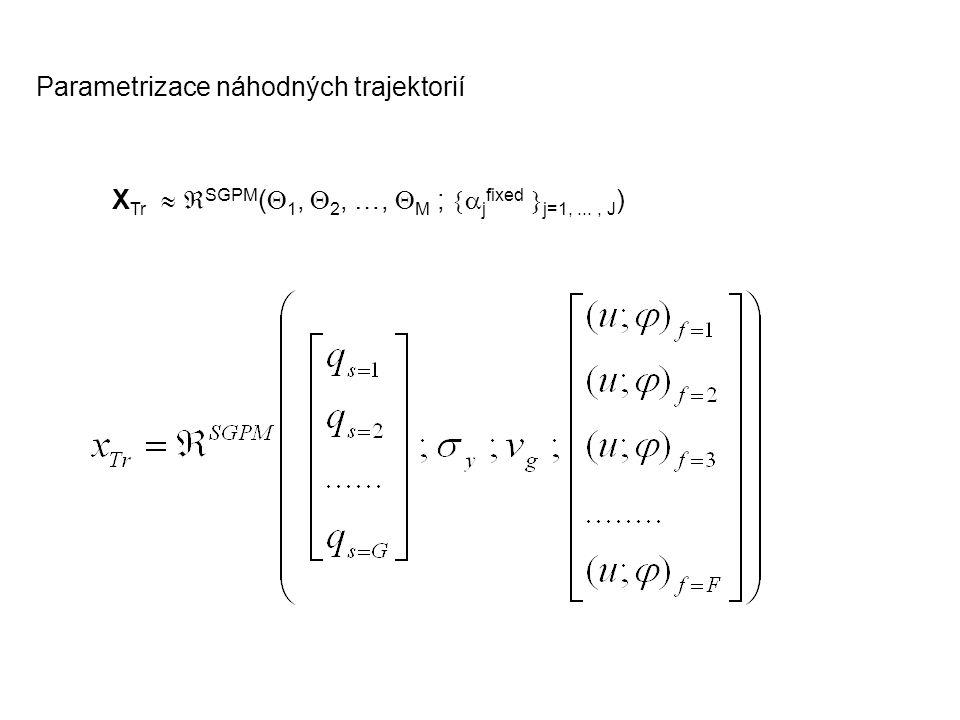 X Tr   SGPM (  1,  2, …,  M ;  j fixed  j=1,..., J ) Parametrizace náhodných trajektorií