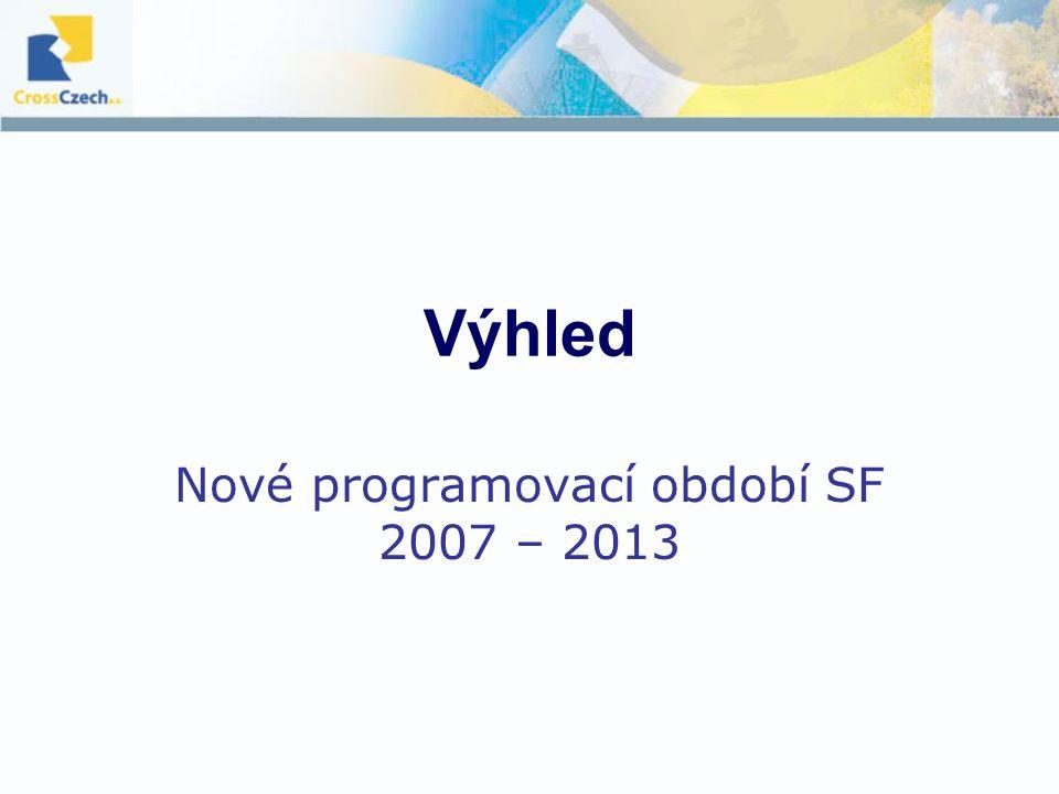 Výhled Nové programovací období SF 2007 – 2013