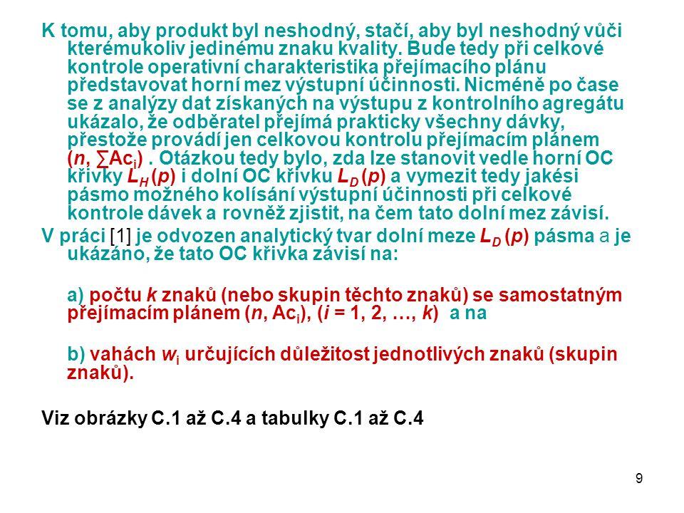 9 K tomu, aby produkt byl neshodný, stačí, aby byl neshodný vůči kterémukoliv jedinému znaku kvality.