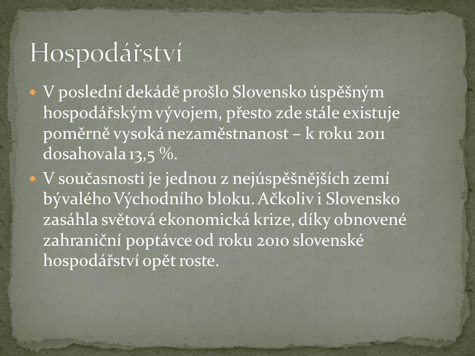 V poslední dekádě prošlo Slovensko úspěšným hospodářským vývojem, přesto zde stále existuje poměrně vysoká nezaměstnanost – k roku 2011 dosahovala 13,5 %.
