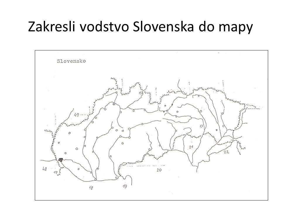 Zakresli vodstvo Slovenska do mapy