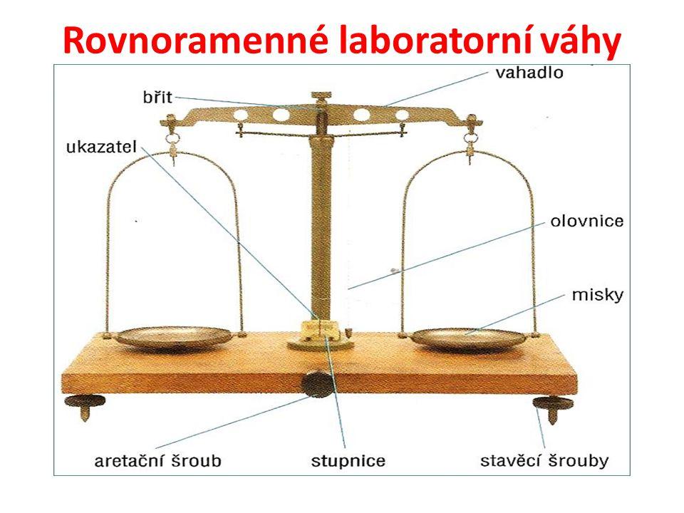 Rovnoramenné laboratorní váhy
