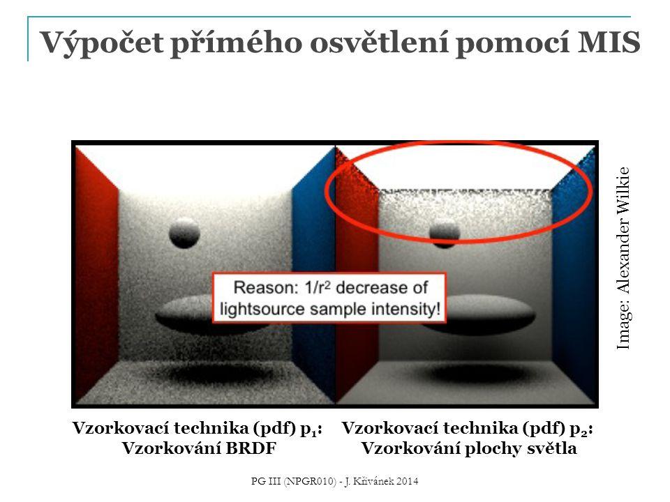 Výpočet přímého osvětlení pomocí MIS PG III (NPGR010) - J. Křivánek 2014 Vzorkovací technika (pdf) p 1 : Vzorkování BRDF Vzorkovací technika (pdf) p 2