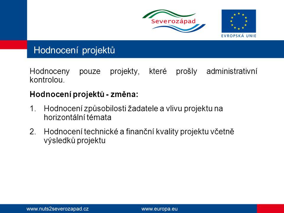 Přehled dokumentace, které se změna hodnocení týká Prováděcí dokument Příručka pro žadatele Příloha č.