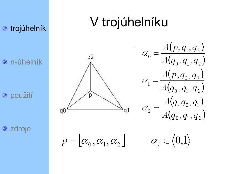 trojúhelník n-úhelník použití zdroje p p p