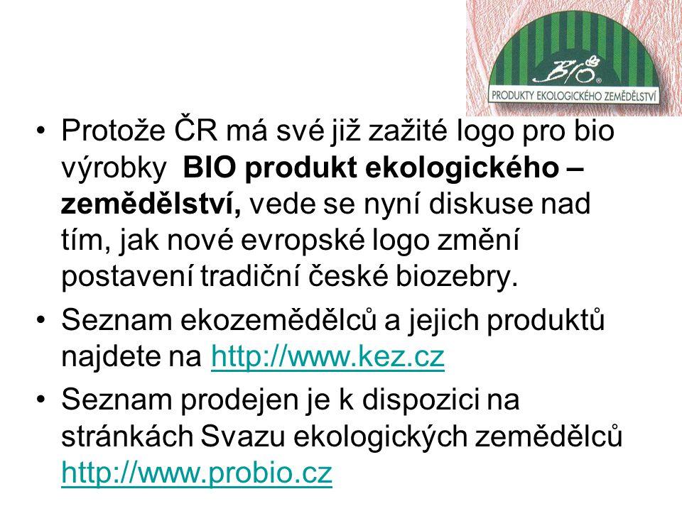 Protože ČR má své již zažité logo pro bio výrobky BIO produkt ekologického – zemědělství, vede se nyní diskuse nad tím, jak nové evropské logo změní p