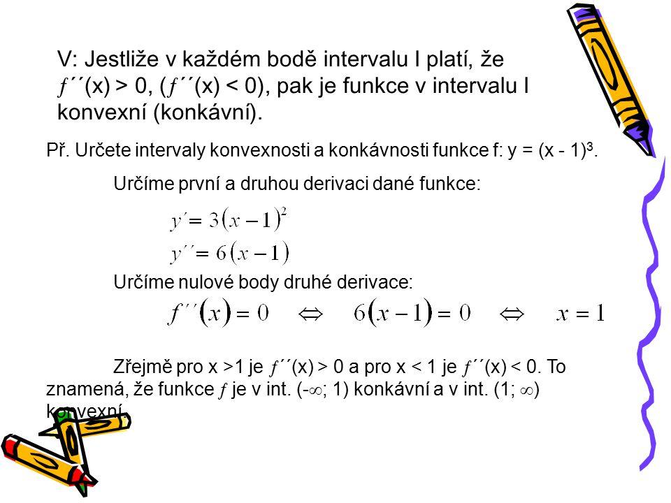 INFLEXNÍ BOD FUNKCE Def.: Nechť funkce  má v bode x 0 derivaci.