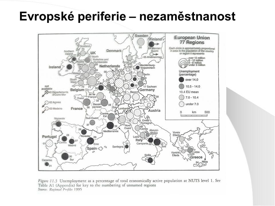 Evropské periferie – nezaměstnanost