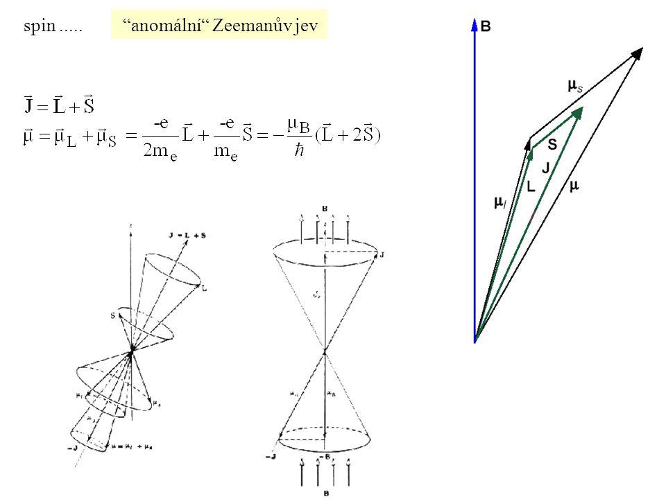"""""""anomální"""" Zeemanův jevspin....."""
