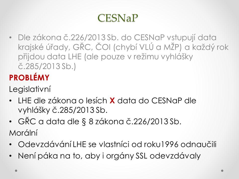 CESNaP Dle zákona č.226/2013 Sb.
