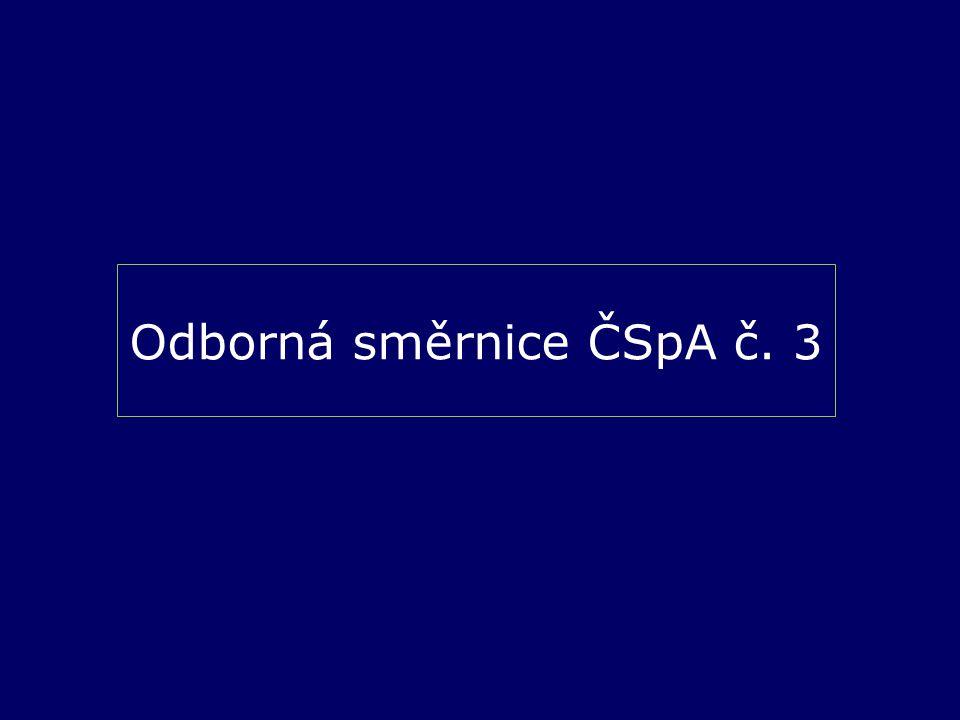Odborná směrnice ČSpA č. 3