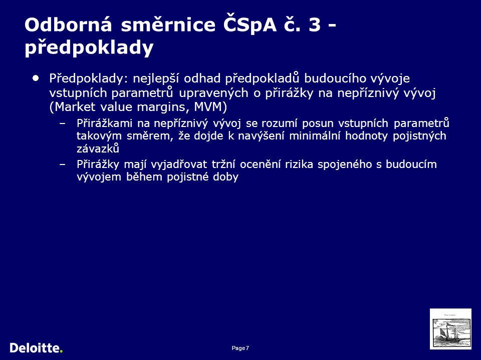 Page 8 Odborná směrnice ČSpA č.3 - přirážky Doporučené přirážky jsou uvedeny v bodě 3.16 směrnice.