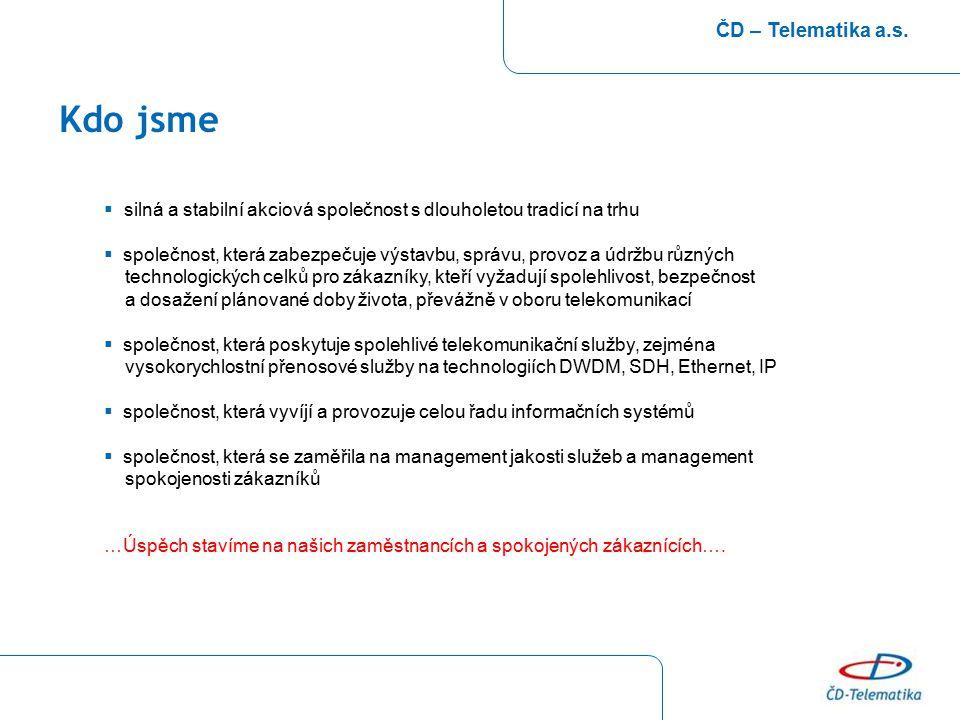 Struktura akcionářů ČD – Telematika a.s.