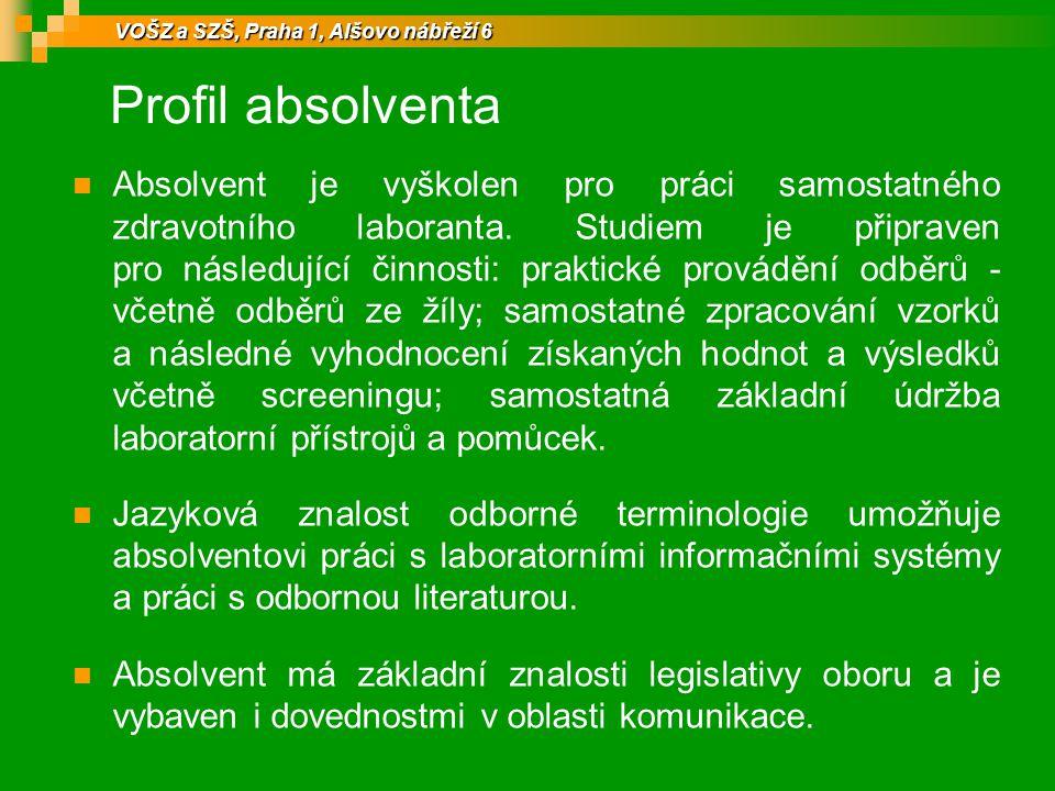 Uplatnění absolventa absolventa Ve zdravotnických zařízeních např.
